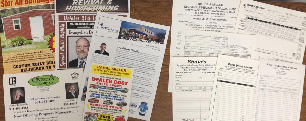 Flyers, Brochures, Carbonless Forms